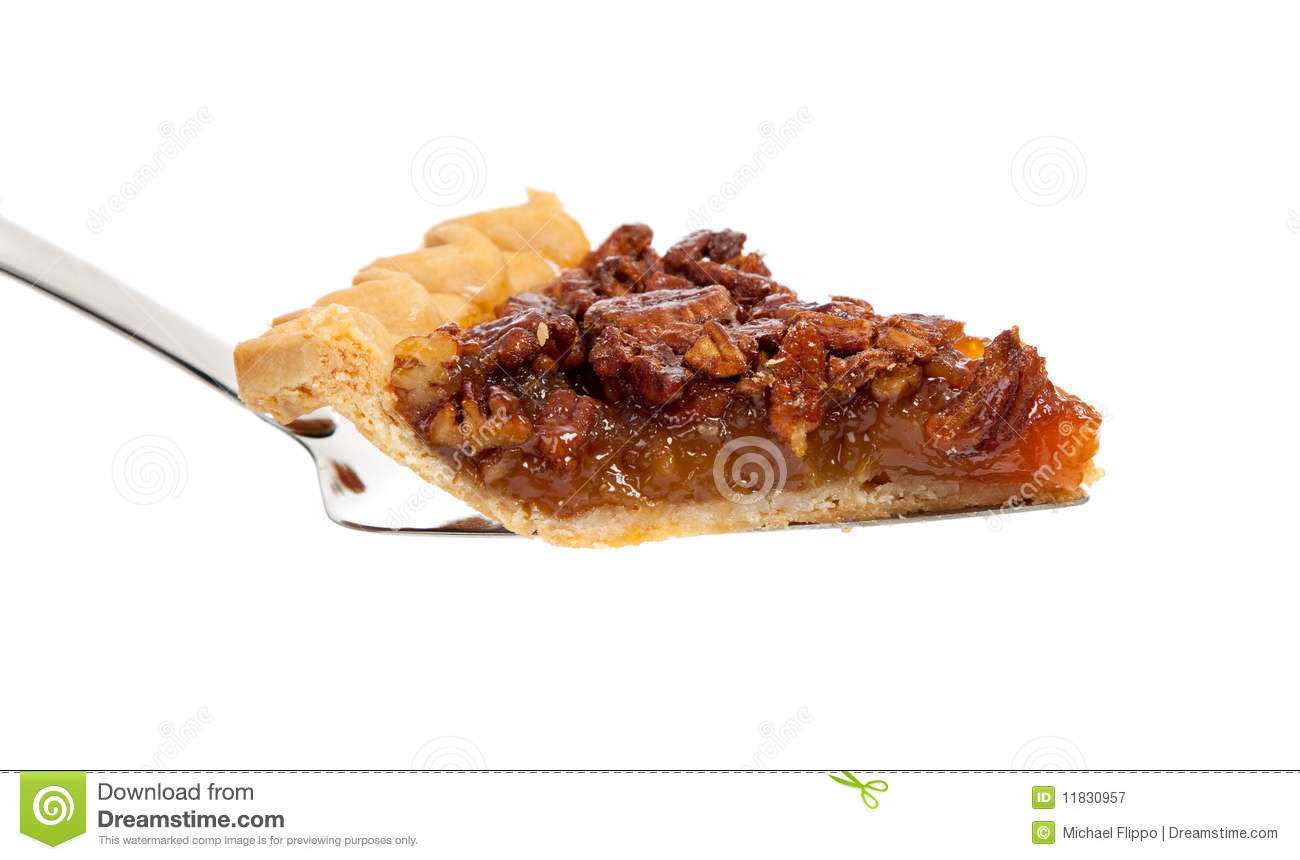 Slice Of Pecan Pie On White Royalty Free Stock Photography   Image