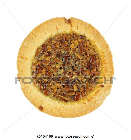 Stock Photograph   Small Pecan Pie  Fotosearch   Search Stock