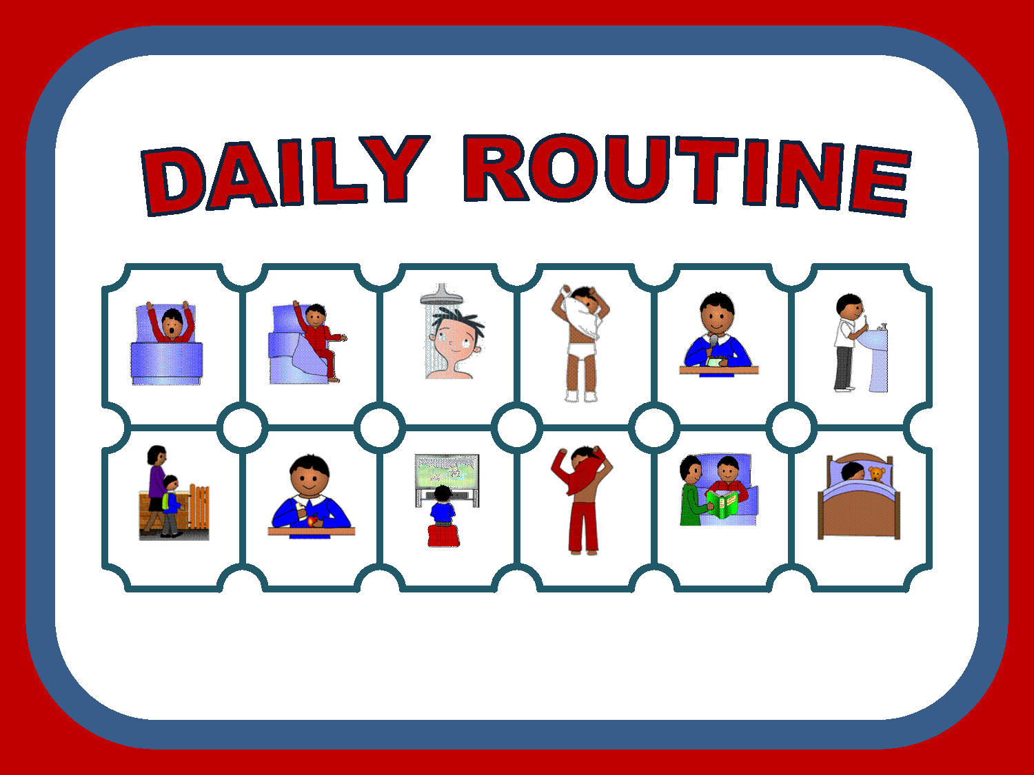 Daily Routine Clipart - Clipart Kid