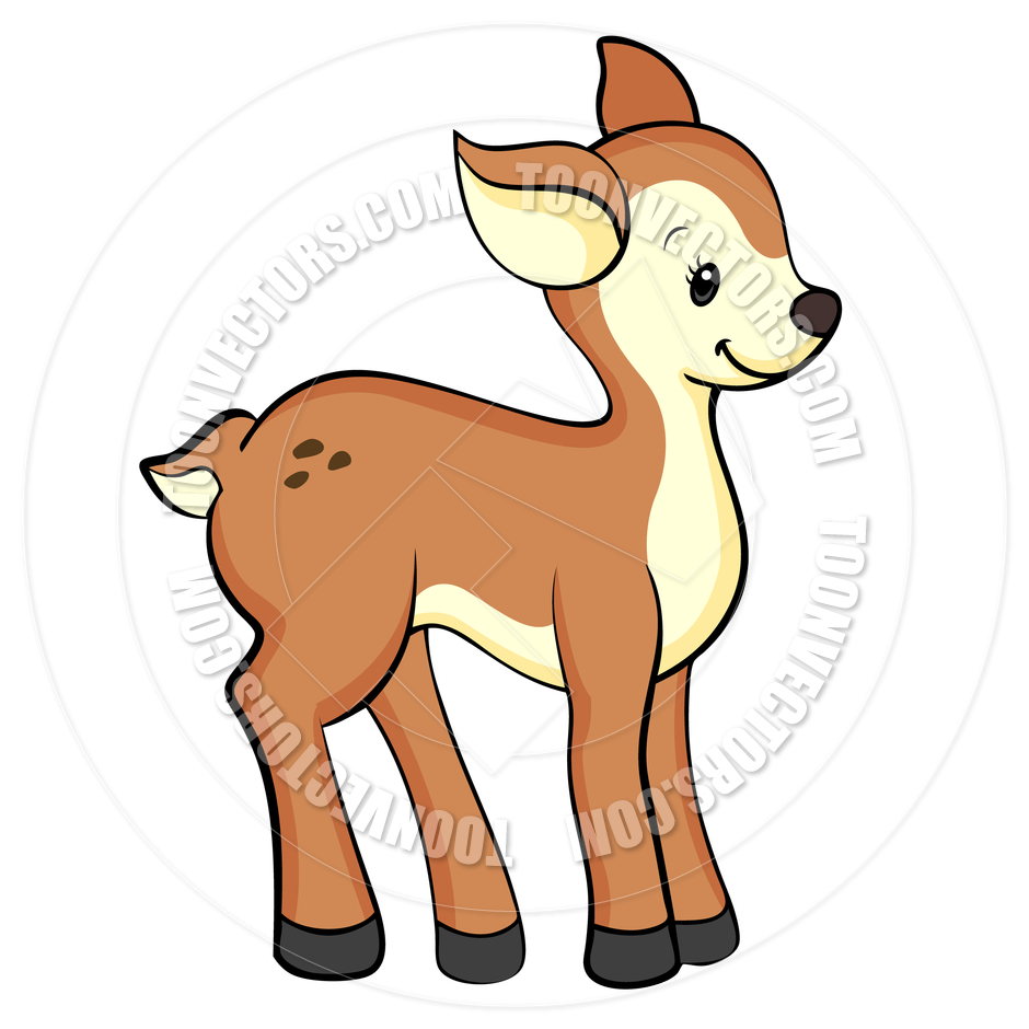 free clipart cartoon deer - photo #36