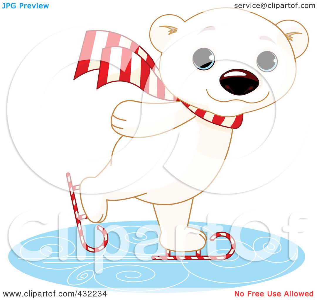 Polar Bear On Ice Clipart - Clipart Kid