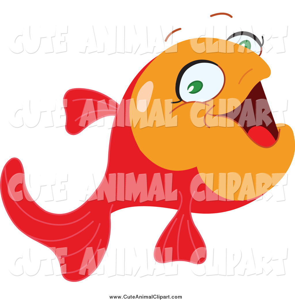 Clip Art Of A Cute Happy Red And Orange Tropical Fish By Yayayoyo