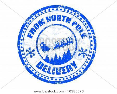 North Pole Delivery Stamp Stock Vector   Stock Photos   Bigstock