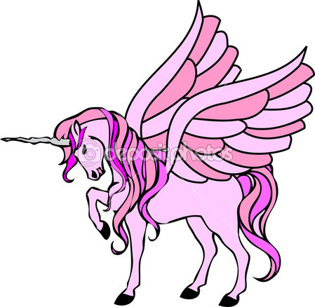 Pink Unicorn With Wings   Stock Photo   Michael R Der  1843733
