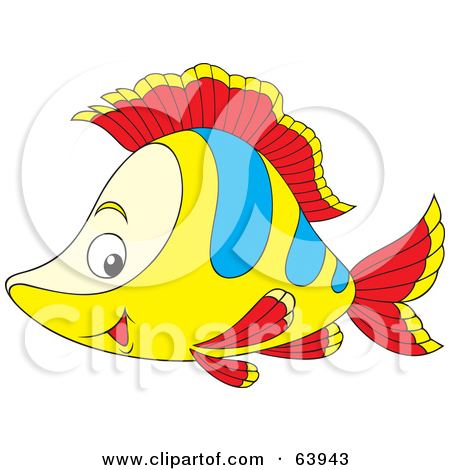 Red Fish Blue Fish Clipart Happy Yellow Red And Blue Fish