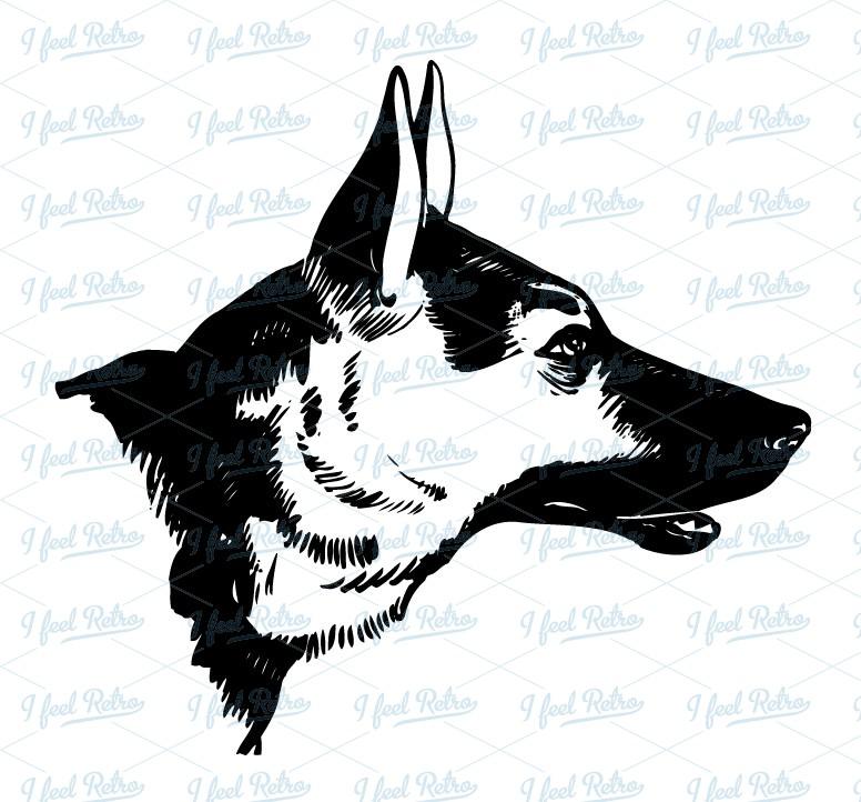 German Shepherd Dog Clipart - Clipart Kid