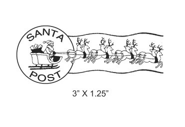 Santas Sleigh And Reindeer Postmark Mail By Asspocketproductions