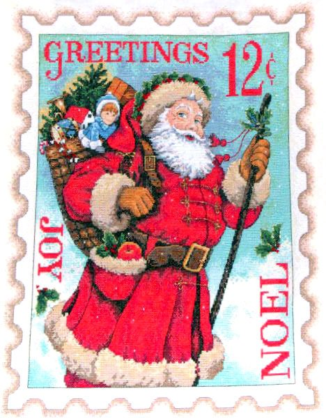 Stamps   Stamp Santa Post Xmas Christmas Holidays Free Clipart
