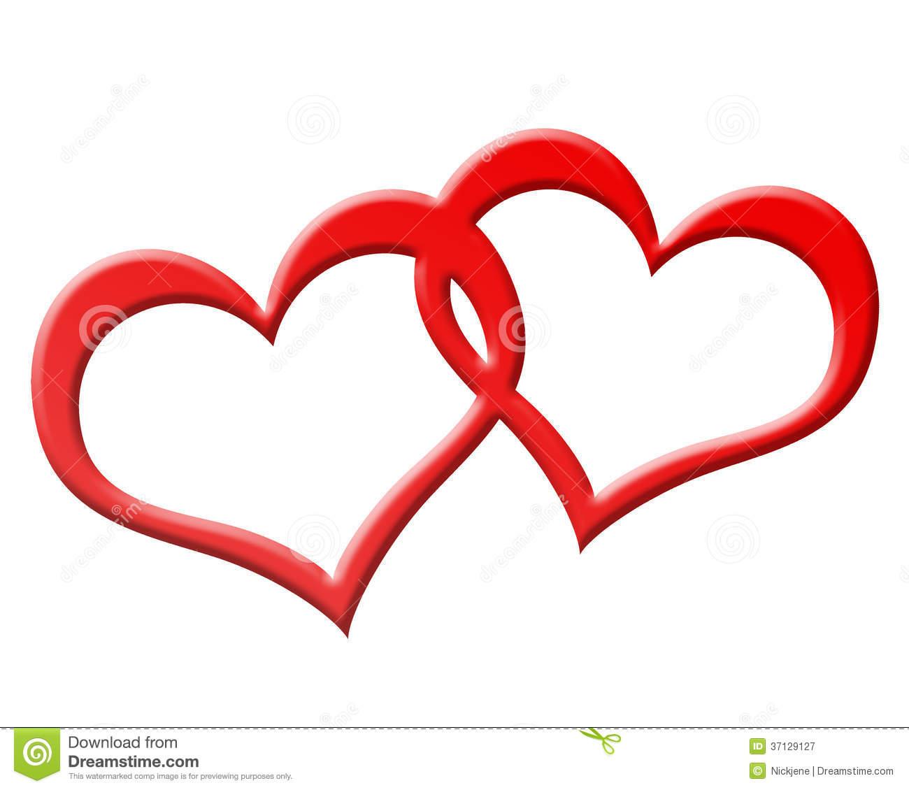 Double red heart logo for Immagini fedi nuziali da stampare
