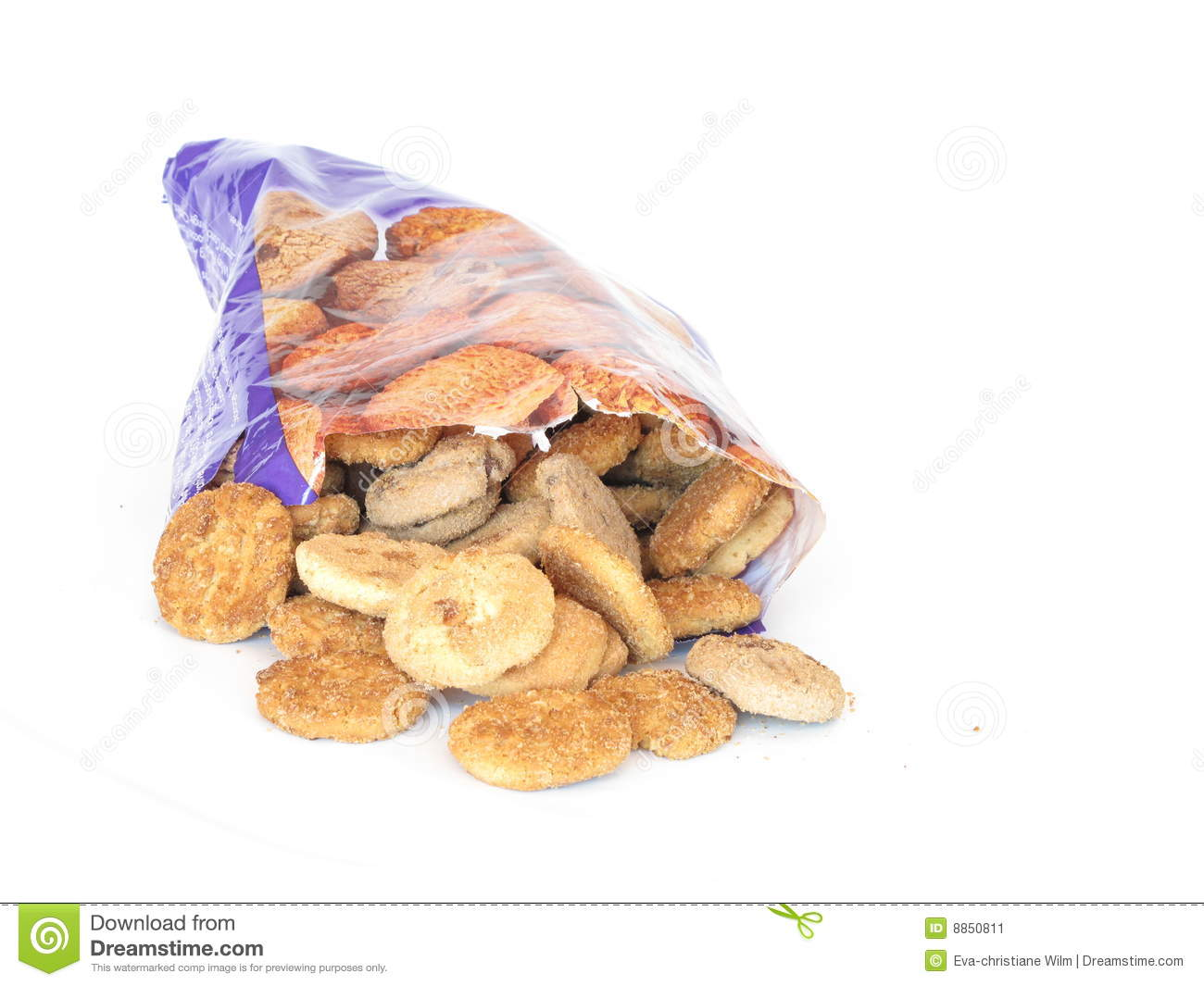 Bag Of Cookies Stock Image   Image  8850811