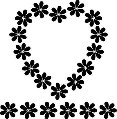 Flower Black And White Clipart - Clipart Kid