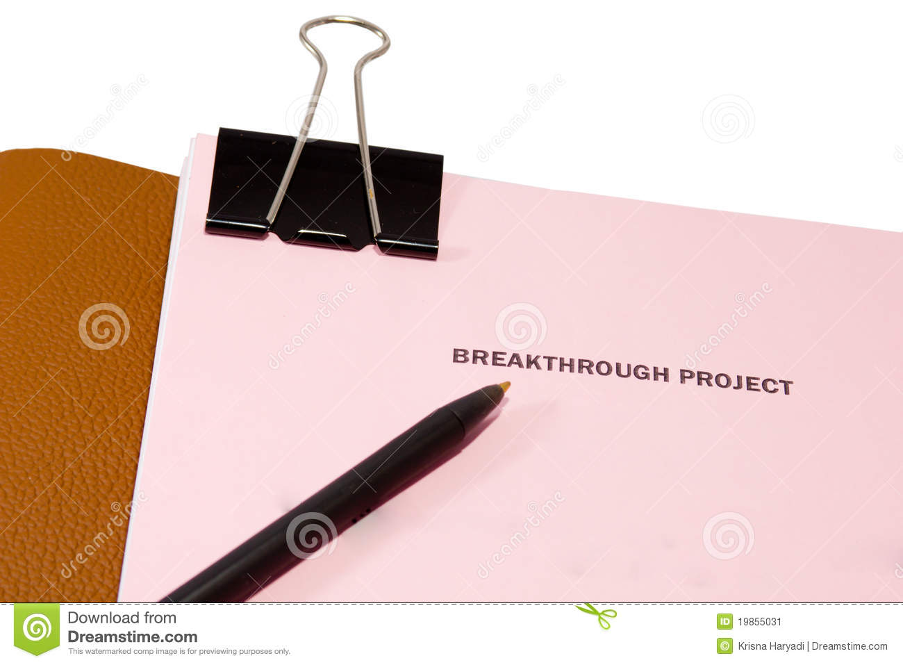 Breakthrough Project Proposal With A Pen  Isolated On White With
