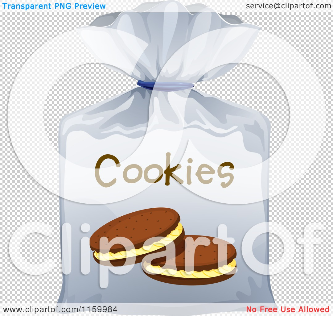 Cartoon Of A Bag Of Cookies   Royalty Free Vector Clipart By Colematt