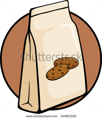 Chocolate Chip Cookies Bag Stock Vector Illustration 84902329