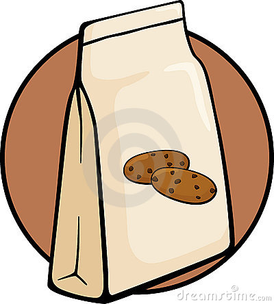 Chocolate Chip Cookies Bag Vector Illustration Stock Photos   Image