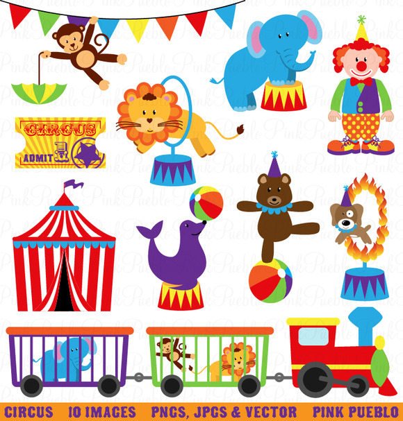 Circus Clipart And Vectors   Illustrations On Creative Market