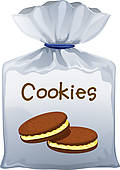 Clipart Of A Pack Of Cookies K12219945   Search Clip Art Illustration