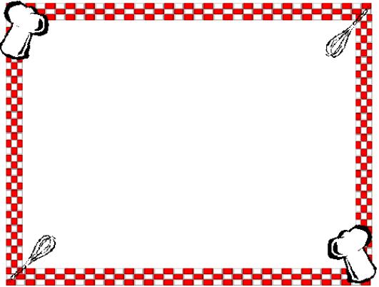 Recipe Border Clipart - Clipart Suggest