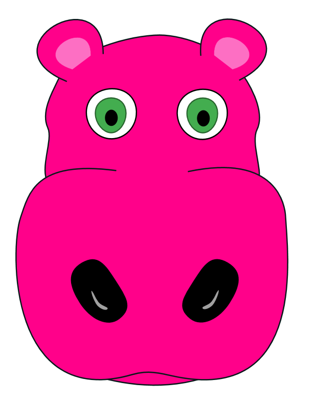 Hippo Face Clipart - Clipart Suggest