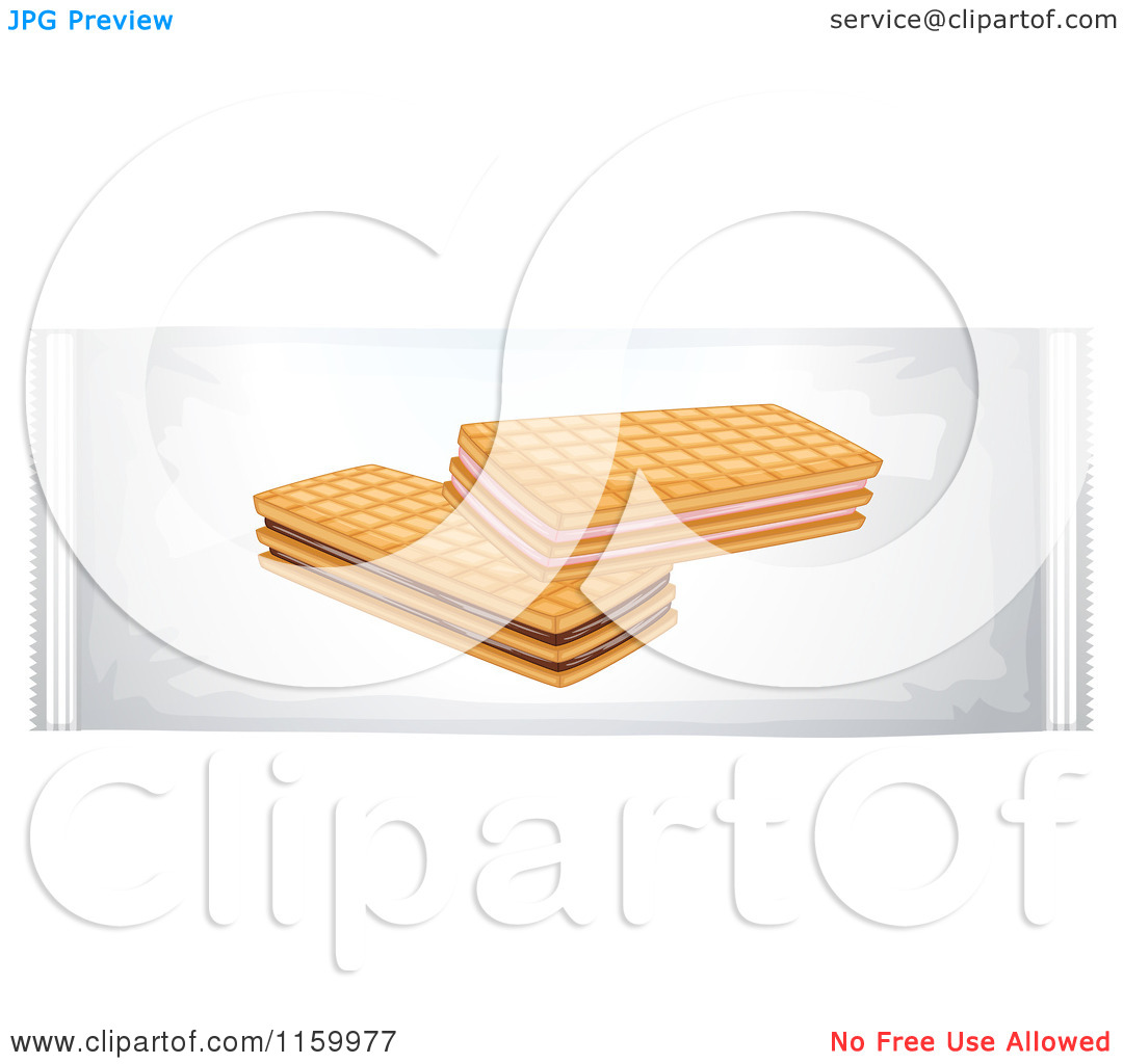 Of A Bag Of Wafer Cookies   Royalty Free Vector Clipart By Colematt