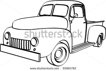 Old Pickup Truck Stock Photos Illustrations And Vector Art
