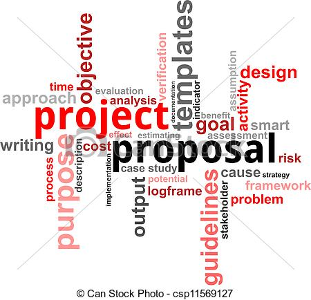Proposal   A Word Cloud Of Project    Csp11569127   Search Clipart