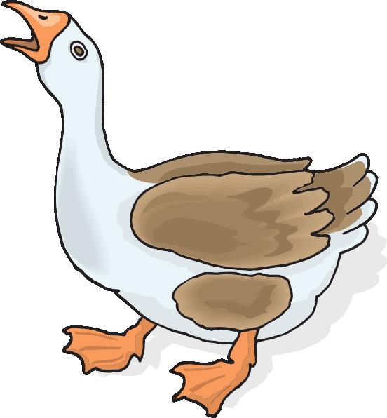 Goose Cartoon Clipart - Clipart Suggest