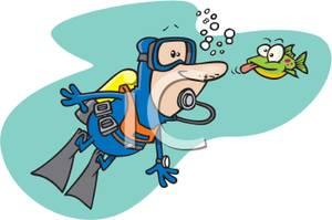 Funny Scuba Diver Clipart - Clipart Kid