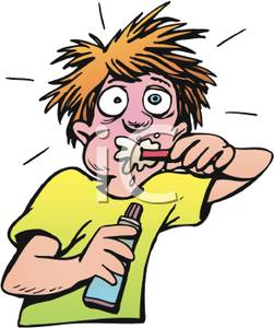 Man Brushing Teeth Clipart - Clipart Kid