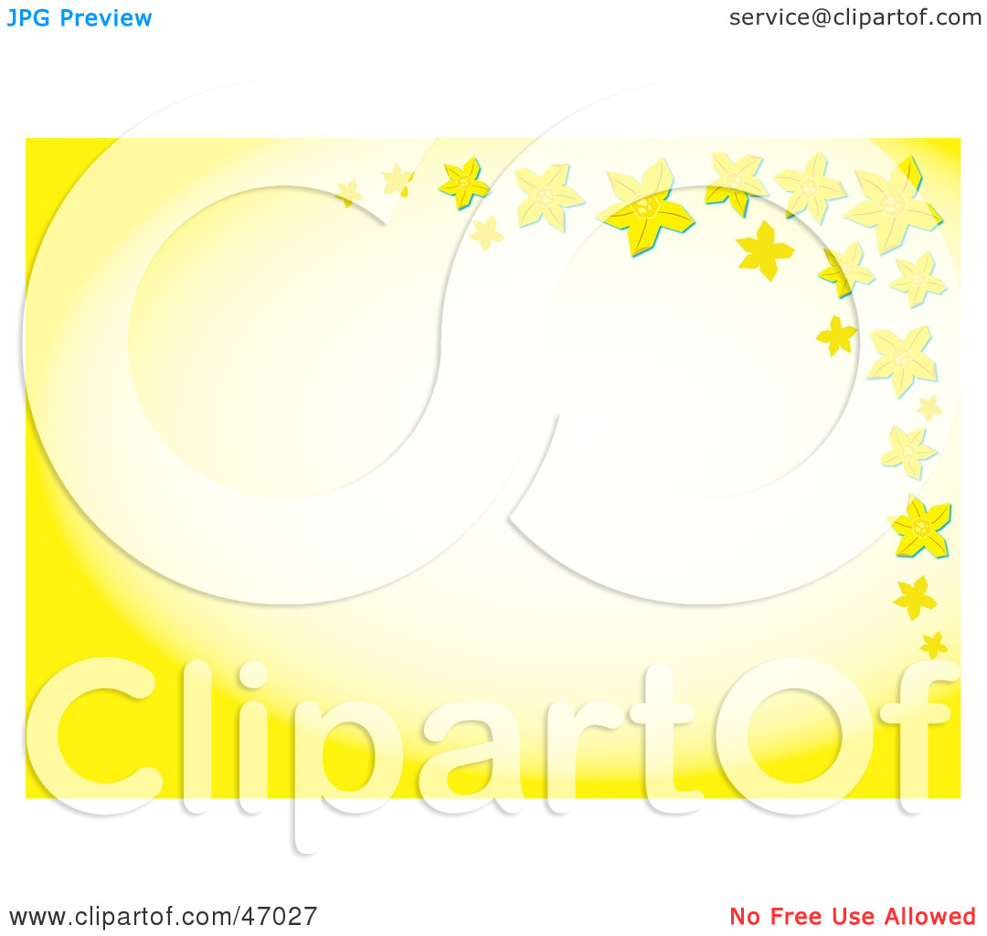 Clipart Illustration Of A Yellow Star Or Daffodil Border With White