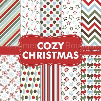 Cozy Christmas Paper Pack    Paper Packs    Clipart And Graphics