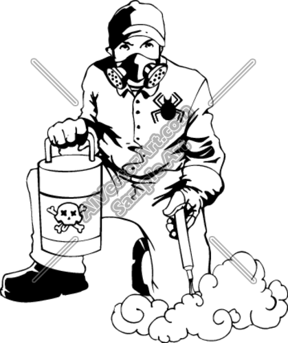 Exterminator Clipart And Vectorart  Occupations   Misc Occupations