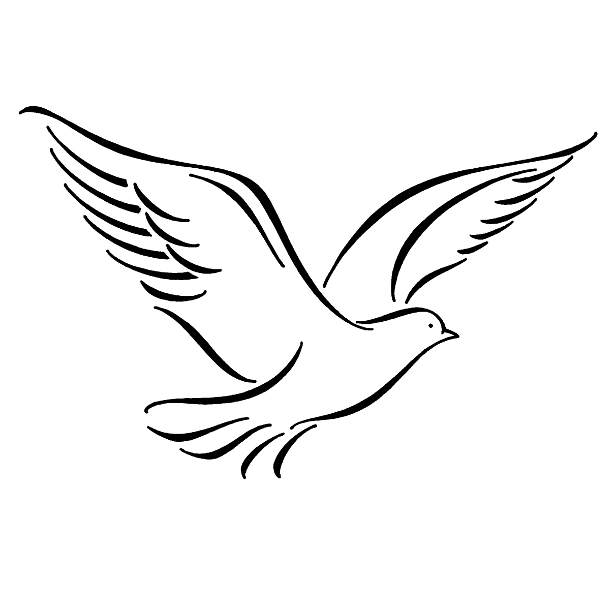 Flying Bird Black And White Clipart - Clipart Suggest