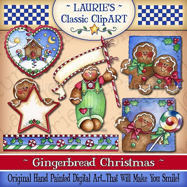 Gingerbread Christmas Digital Art Collection    Collections    Clipart
