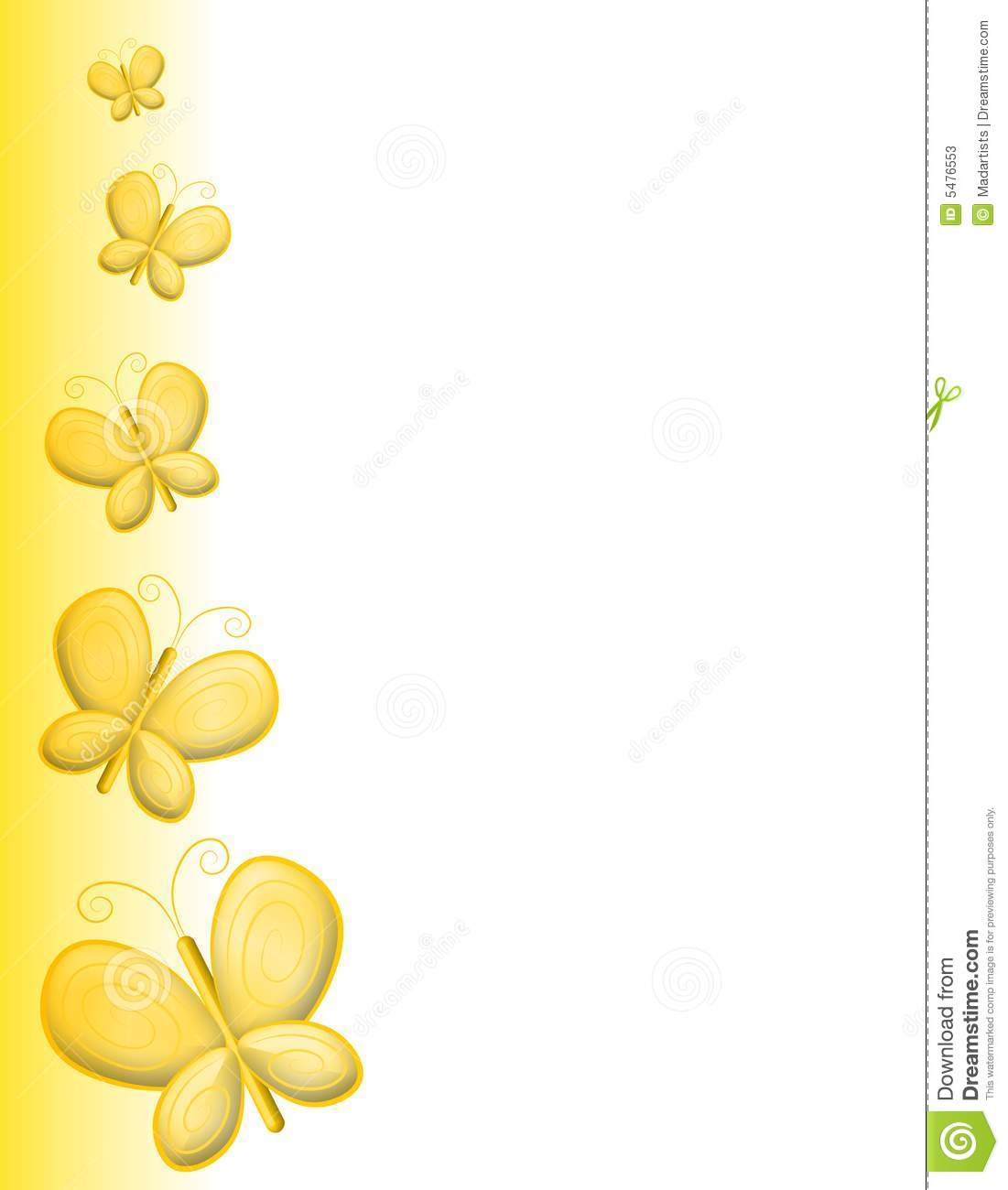 More Similar Stock Images Of   Yellow Butterfly Page Border