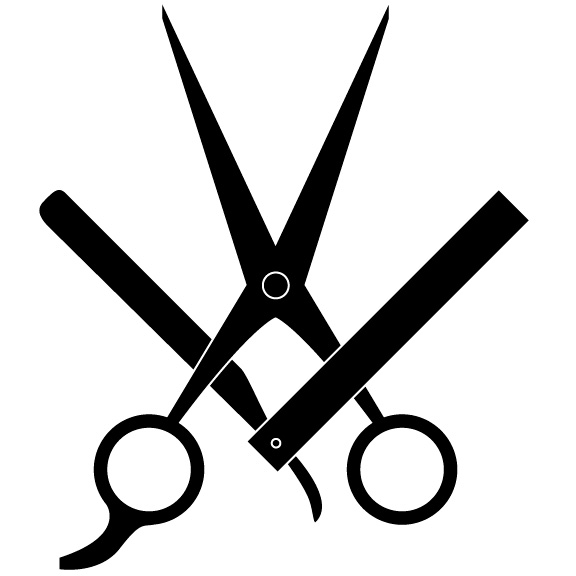 Barber Scissors Clipart - Clipart Suggest