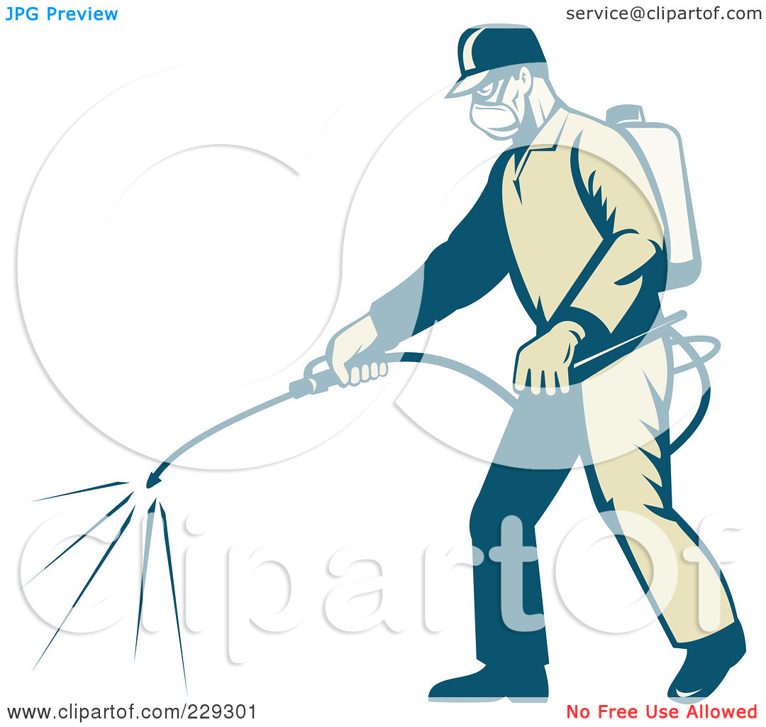 Royalty Free  Rf  Clipart Illustration Of A Retro Exterminator