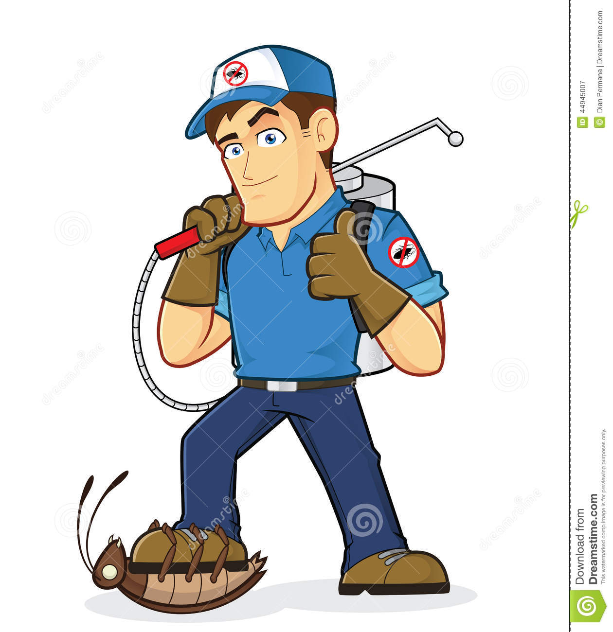 Royalty Free Stock Photography  Exterminator Or Pest Control  Image