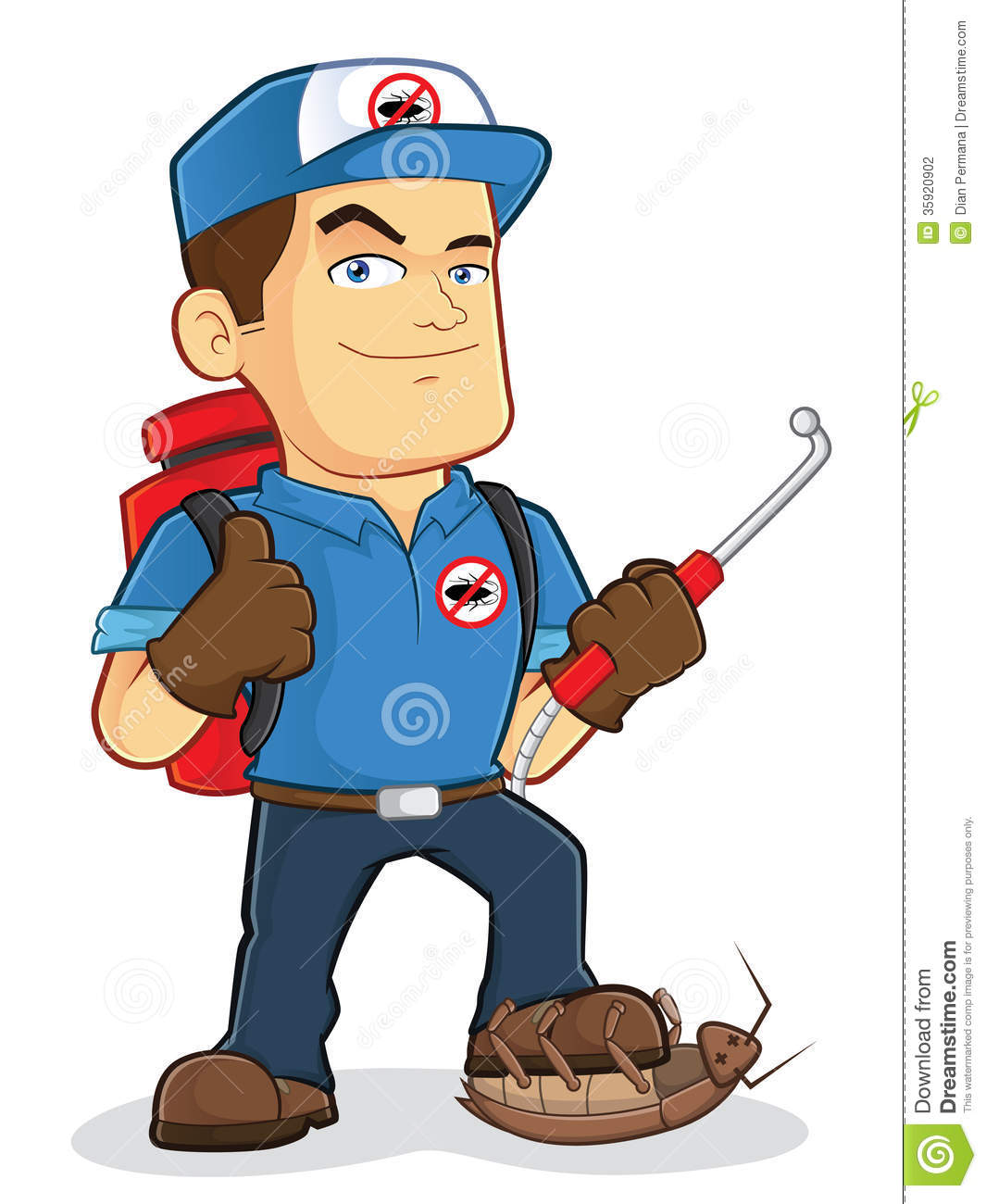 Stock Photography  Pest Control Exterminator Worker  Image  35920902