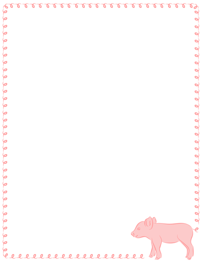 Ten New Borders Have Been Added Including Borders Featuring Pigs