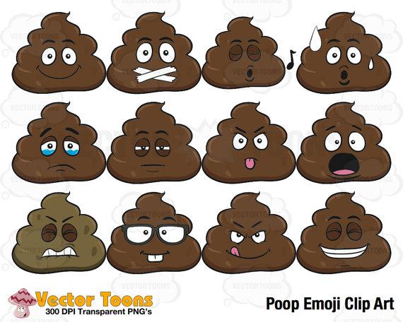 Poop Emoji Cake Pattern