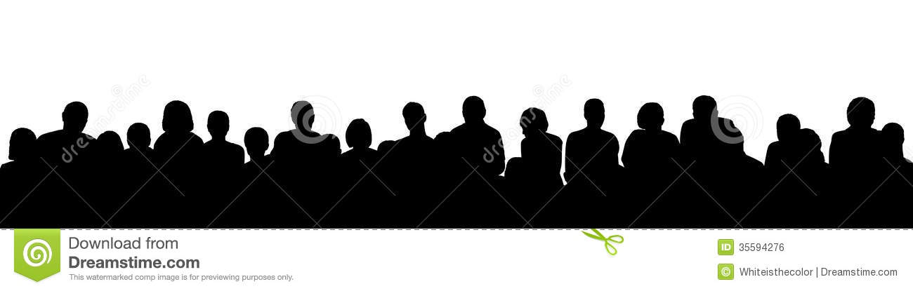 Audience Silhouette Clipart - Clipart Suggest