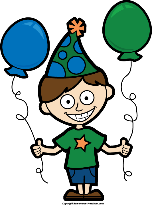 Birthday Boy Clipart - Clipart Kid