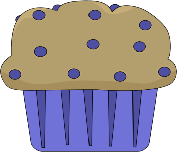 Blueberry Muffin Clip Art Image   Clip Art Image Of A Blueberry Muffin