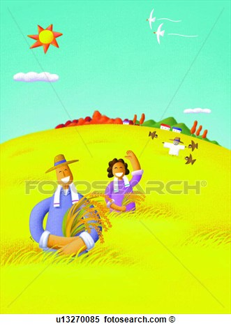 Field Scarecrow Harvest Autumn Human  Fotosearch   Search Clipart