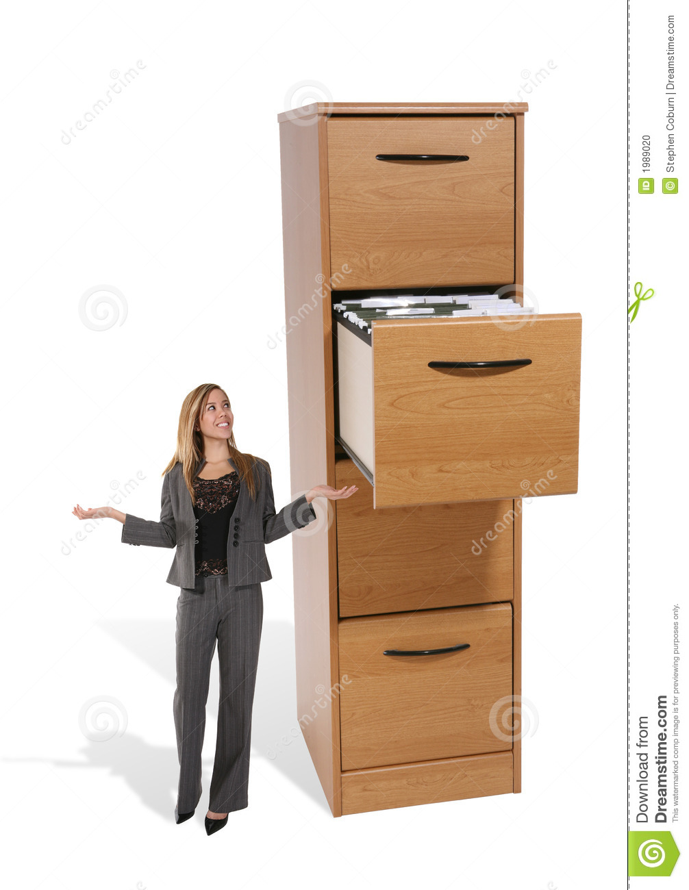 More Similar Stock Images Of   Business Woman At File Cabinet