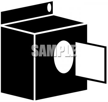 0511 1110 2922 2657 Silhouette Of A Clothes Dryer Clipart Image Jpg