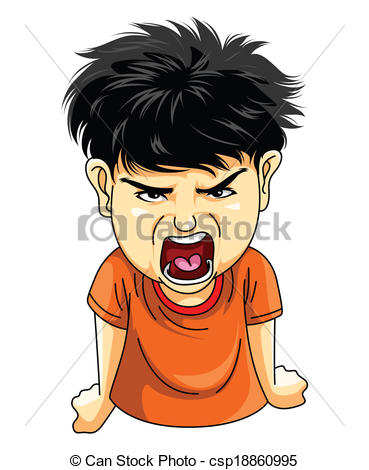 Angry Boy Clipart - Clipart Suggest