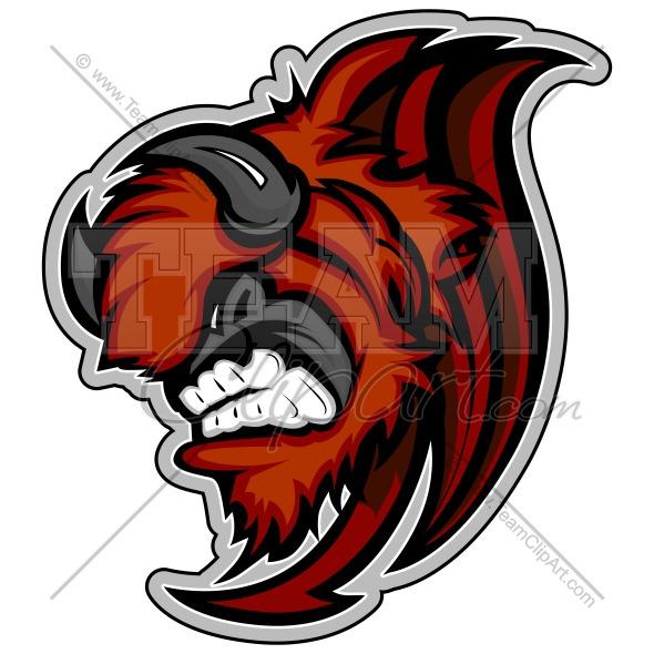 Bison mascot clipart - photo#12