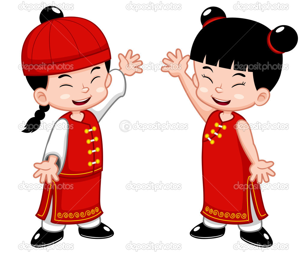 Cartoon Chinese Kids   Stock Vector   Sararoom  28706149